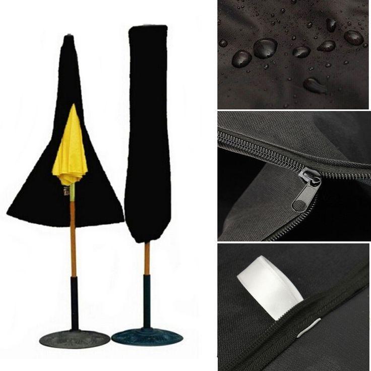 Patio Outdoor Yard Garden Umbrella Parasol Cover Zipper Waterproof Cover Dustproofed Cover Furniture Cover #Affiliate
