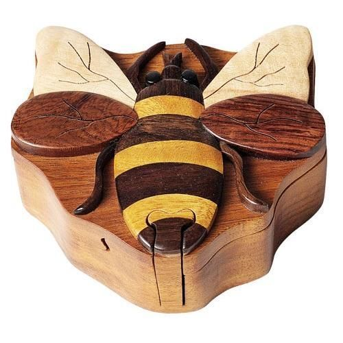 Bee - Secret Wooden Puzzle Box #TheHandcrafted
