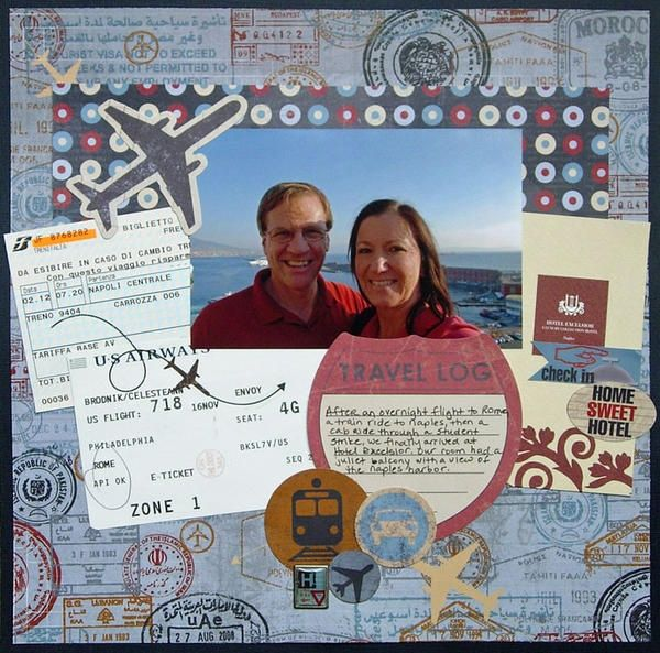 travel scrapbook layouts | Layout: Travel Log | Scrapbook Page Layouts