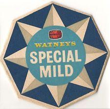 2 WATNEYS SPECIAL MILD Beer Mats. Unused NORWICH Collectable Vintage Breweriana
