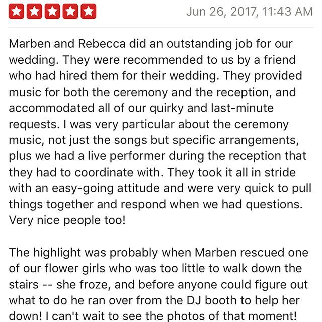 Just in. Another 5 star review from our amazing clients! #ranchosantafelocals #sandiegoconnection #sdlocals #rsflocals - posted by Party Rockers Entertainment  https://www.instagram.com/partyrockersent_sd. See more post on Rancho Santa Fe at http://ranchosantafelocals.com