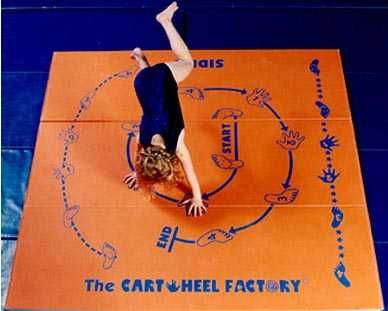Step by step cartwheel the cartwheel factory 169 mat teaches how to do