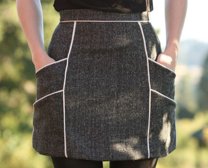 chalk lines skirt >> by One Avian Daemon >> this is too cute... provides basic pattern piece outlines for you to adapt, and basic instructions that should be great if you have some sewing ability!