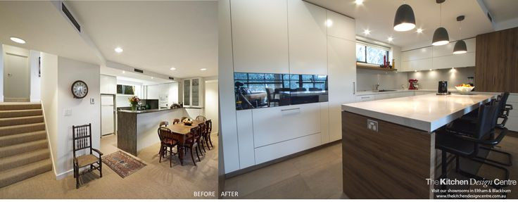 Before & After - White & Timber Contemporary Kitchen