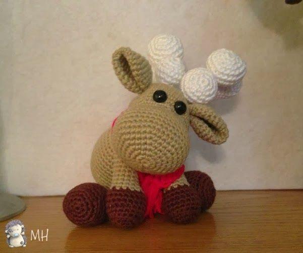 Free Crochet Amigurumi Cat Pattern : Reindeer - free pattern Feestdagen Pinterest ...