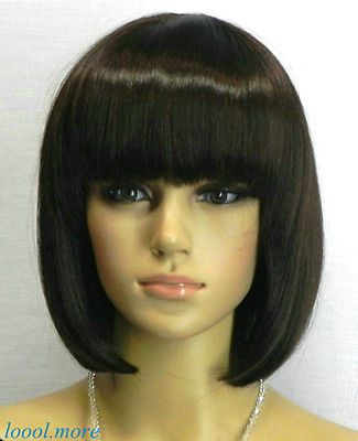 Ра дамы Peluca мода боб стиль шатен короткий женщин + бесплатная сетка для волос # XS26 волосы синтетического волокна парики parrucche