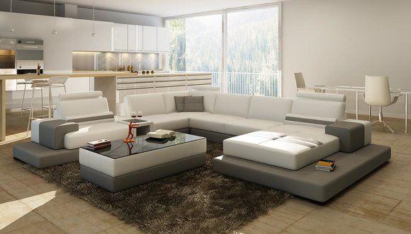 Wunderschone Xxl Leder Wohnlandschaft U Form Ecksofa Sofa Couch Polster Ecke Www Jvmoebel At La Design Mobel Ledersofa In 2020 Wohnen Couch Polster Sofa Couch