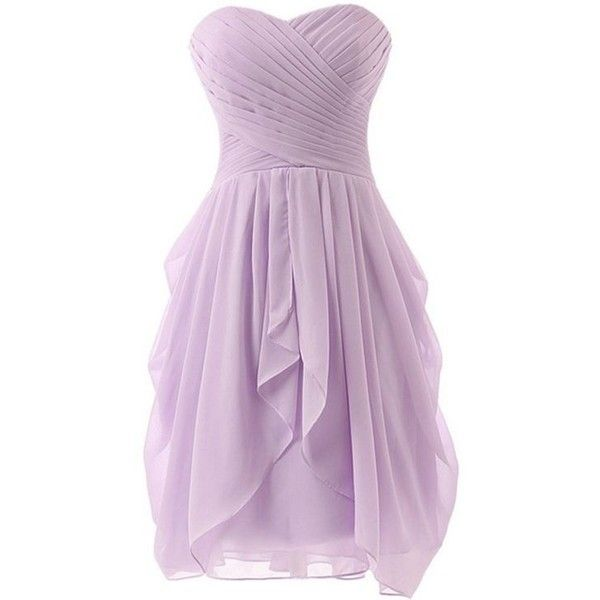 Light purple bridesmaid dresses liked on polyvore for Light purple wedding dress