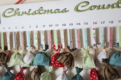 Christmas advent calendar #DIY #advent #calendar #christmas