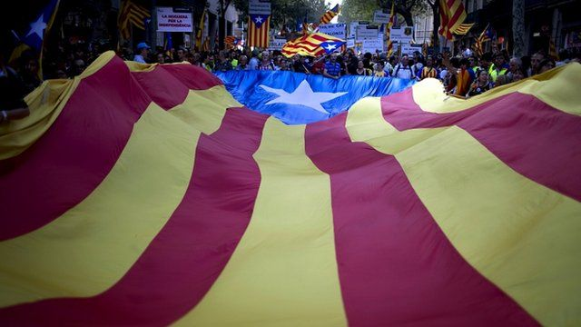 """BBC News: Catalan leaders seek independence vote, legal or not. If Catalonia does, one day, get its own air force, it will probably be able to afford something better than Spitfires. For now the kit-built replica planes zoom acrobatically across the beach in Barcelona, the crowd's """"oohs and ahhs"""" moderated by that essential Catalan characteristic: cool."""