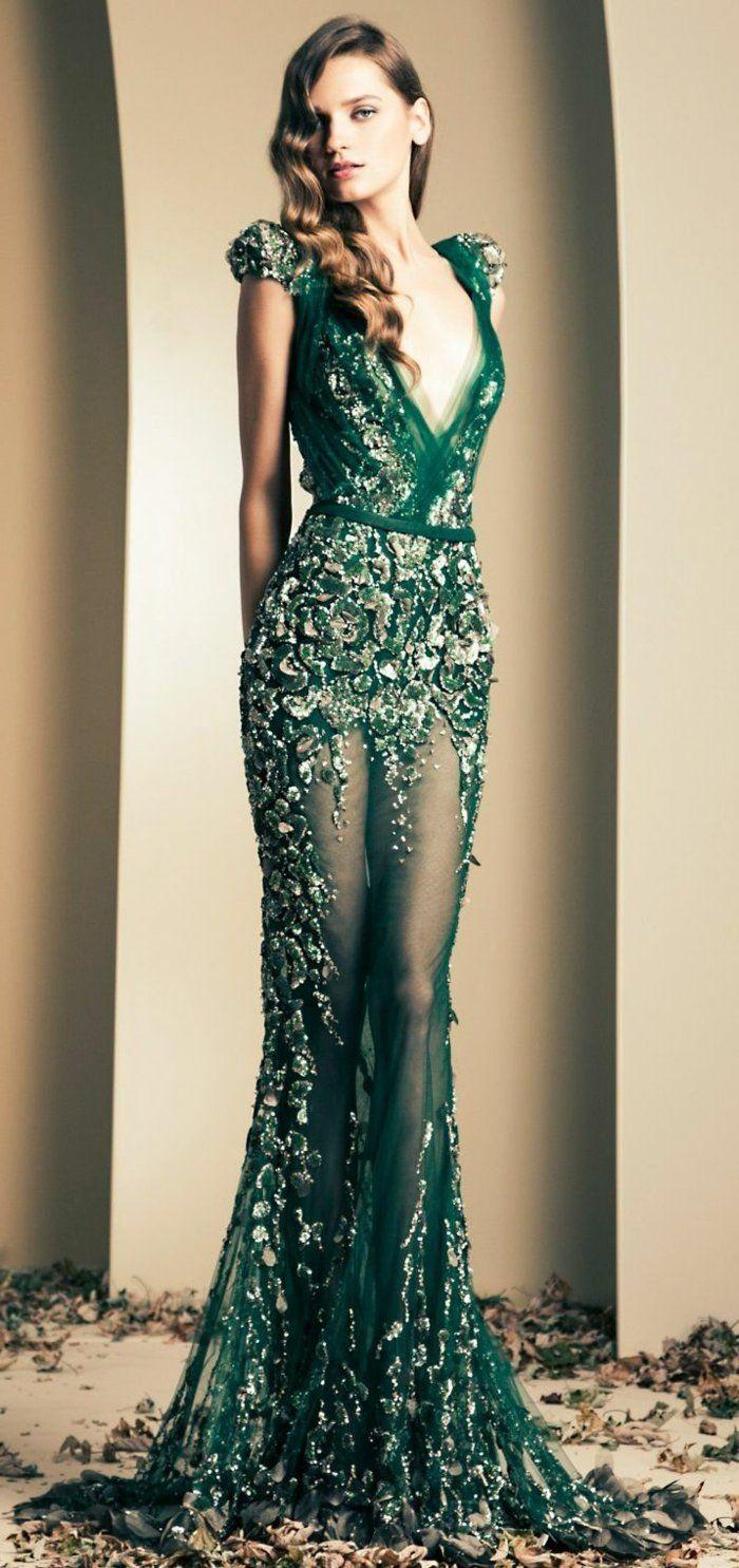 comment etre à la mode avec cette robe de soirée dentelle verte
