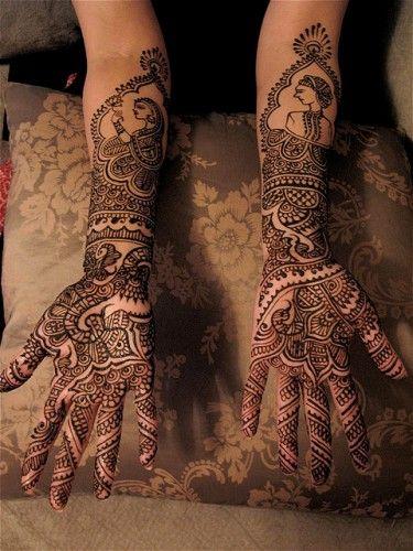Rajasthani Bridal Mehndi Design For Full Hands