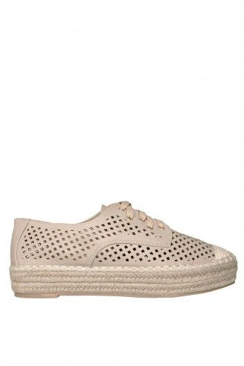 Siara Cut Out Flatforms beige