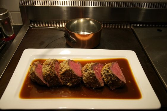 Mustard-Crusted Beef Tenderloin with Sauce Robert recipe on Food52.com
