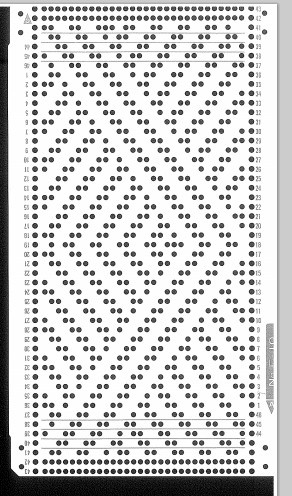Knitmaster/Silver Reed Fine gauge knitting machine 30 sts punch card - No F10