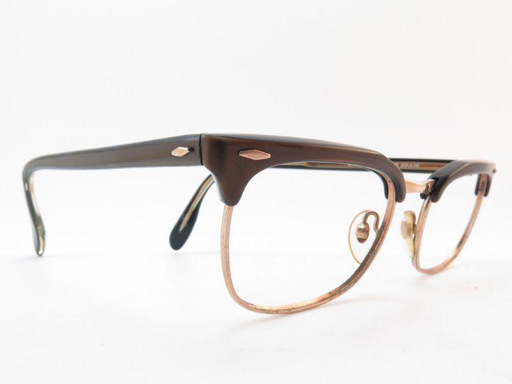Vintage early 60s eyeglasses frames gold filled 1-12 12K GF BARBUDO Spain