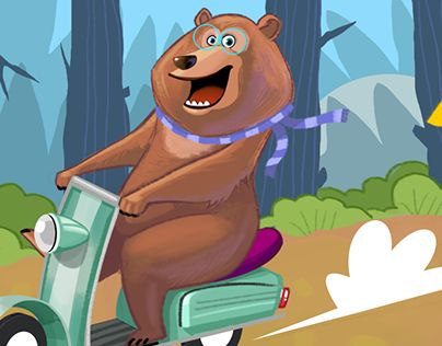 """Check out new work on my @Behance portfolio: """"Bear on Wheel!!"""" http://on.be.net/1gxRlBh"""