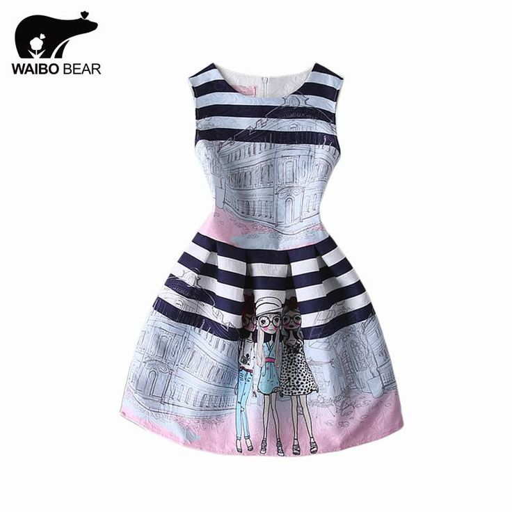 Hot Selling Women A-Line Pleated Skater Dress O-Neck Printed Sleeveless Casual Club Dress Vestidos Mujer Like and share! http://www.lady-fashion.net/product/hot-selling-women-a-line-pleated-skater-dress-2016-o-neck-printed-sleeveless-casual-club-dress-ves