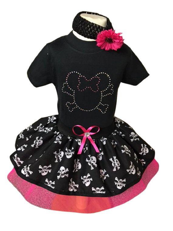 Baby Girls Minnie Pirate Halloween Tutu Skirt Rhinestone Vest Toddler Fancy Dress