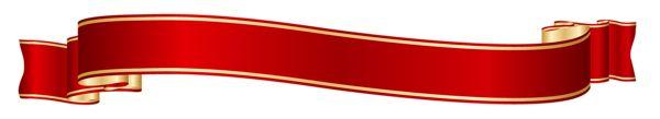 Красный и золотой баннер PNG изображения Clipart