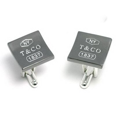 Tiffany & Co Outlet 1837 Sauqre Cuff Link