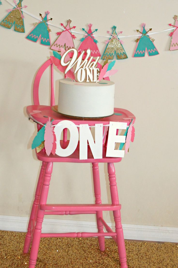 Wild One High Chair Banner, One banner- Highchair banner- I am one banner- FIrst Birthday banner Cake Smash, Feather Banner, Gold and pink by JustUsCelebrating on Etsy https://www.etsy.com/listing/268924564/wild-one-high-chair-banner-one-banner