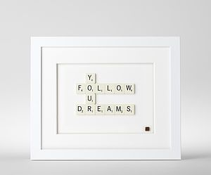 Follow Your Dreams Scrabble Art - home accessories