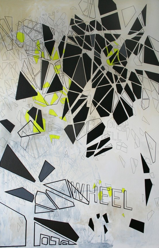 Falling Wonder. Painting by Tina Louise Hunderup. www.tinalouise.dk