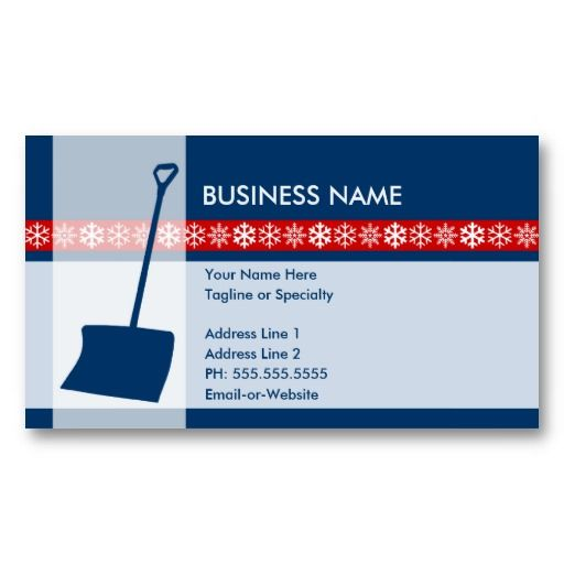 Best Snow Removal Business Cards Images On   Business