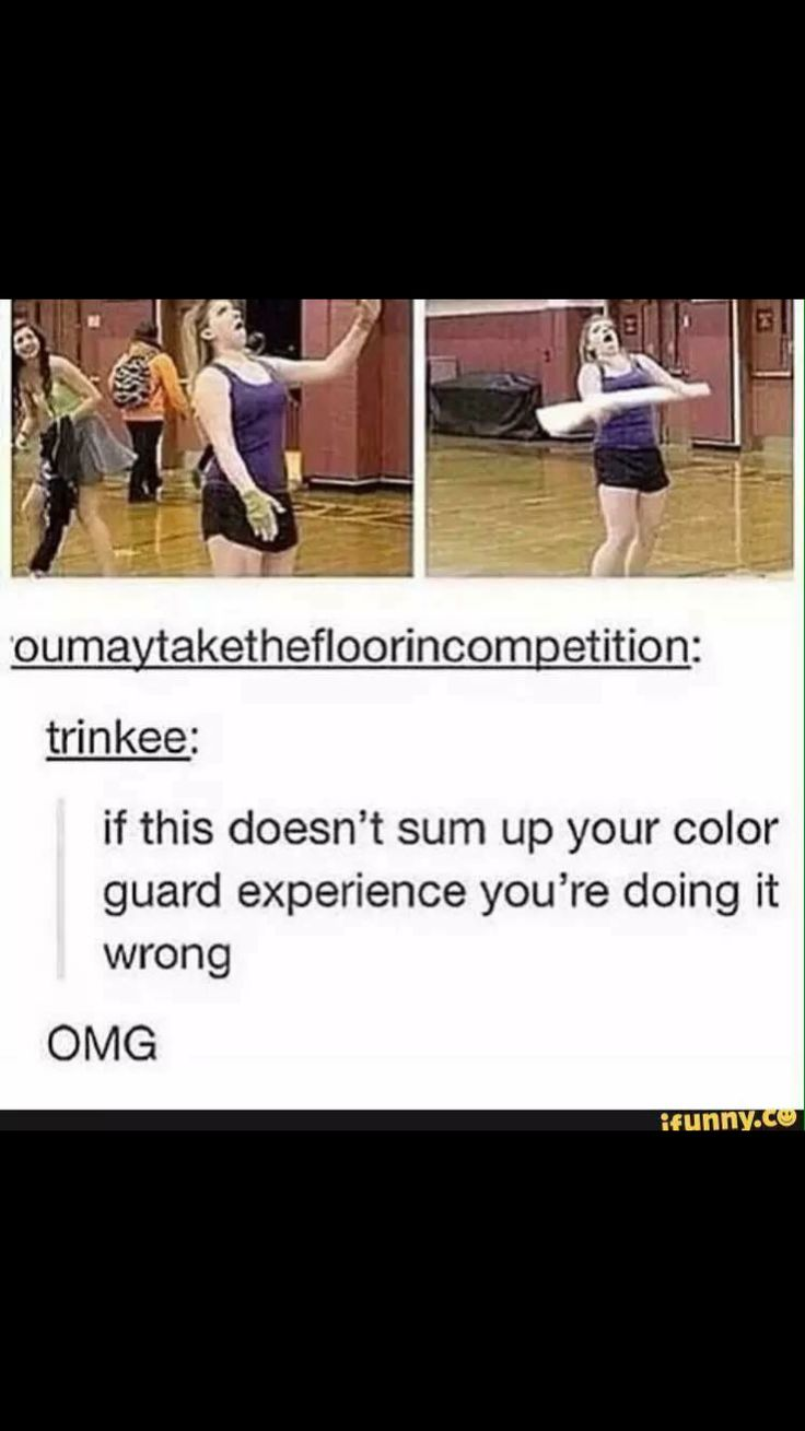 I don't even color guard but I love this so much