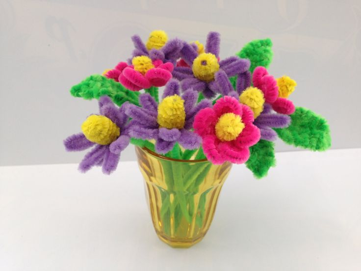 30 Pipe Cleaner Flower ideas, kids crafts #2 (モールアート)