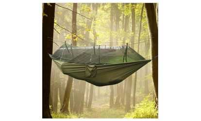 image for 2-Person Parachute Hammock with Built-in Mosquito Net and Carry Pouch