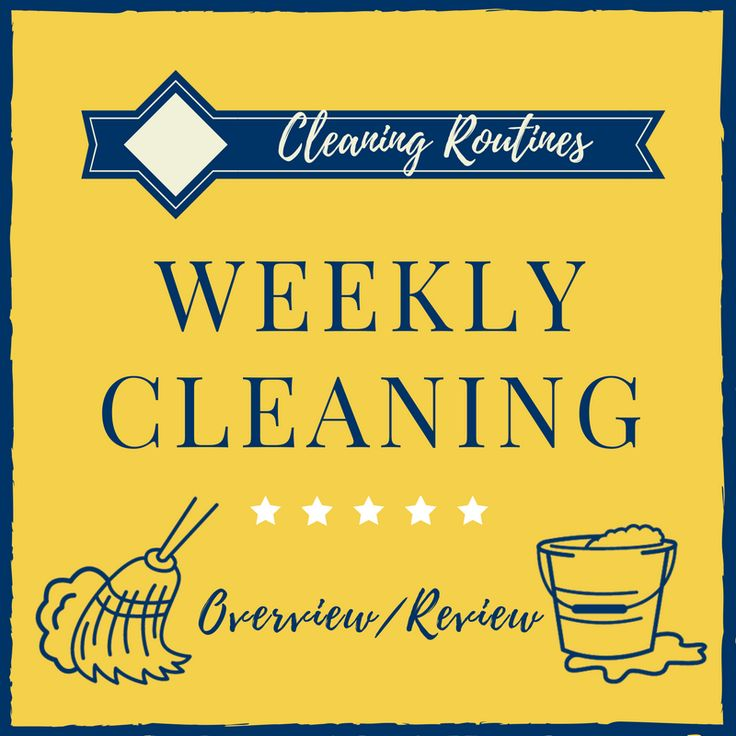 Do you use a weekly cleaning routine? Find out the pros/cons to using a daily/weekly cleaning routine and download a free weekly cleaning printable!