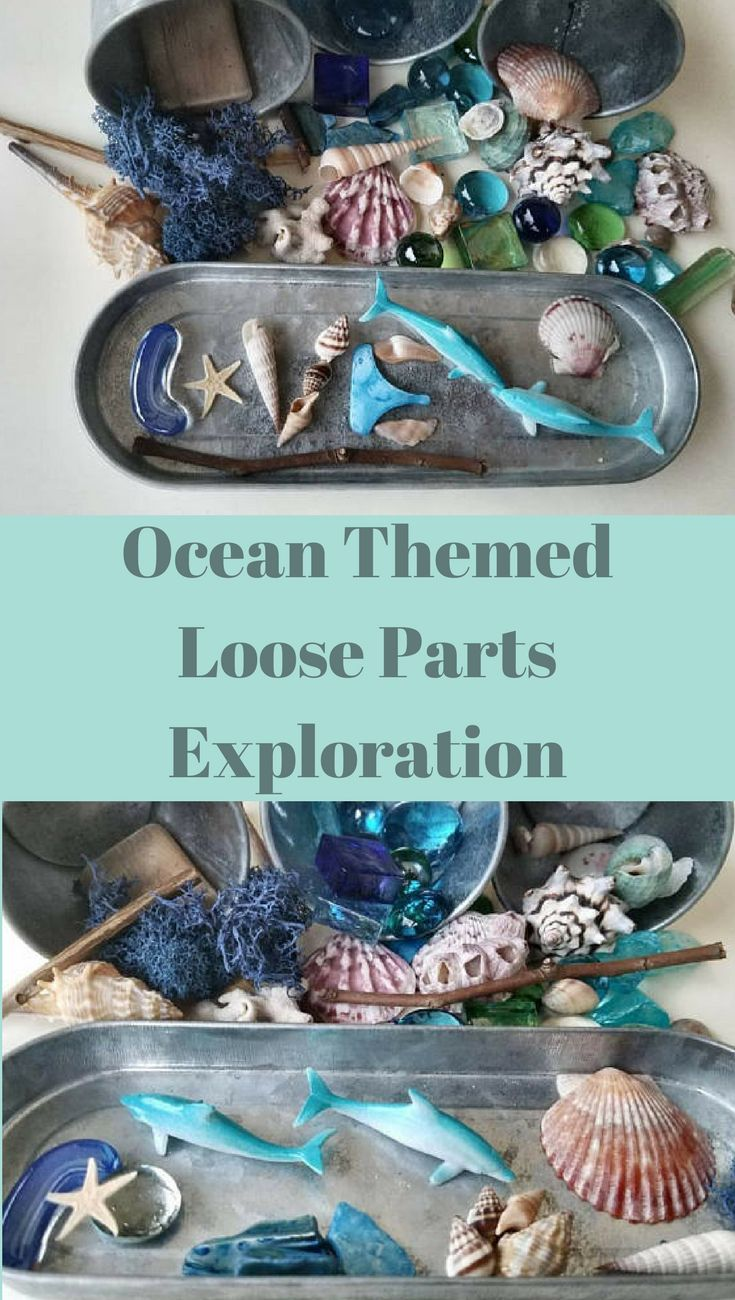 Loose parts are simple treasures that inspire children to naturally explore, sort, build, play, count, stack, use their imagination and create personal masterpieces. Not only does this Ocean Tinker Tray inspire, but is also a great calming activity before a nap, in the evening, or anytime you just want to unwind. #etsy #handmade #natural #ocean #ad
