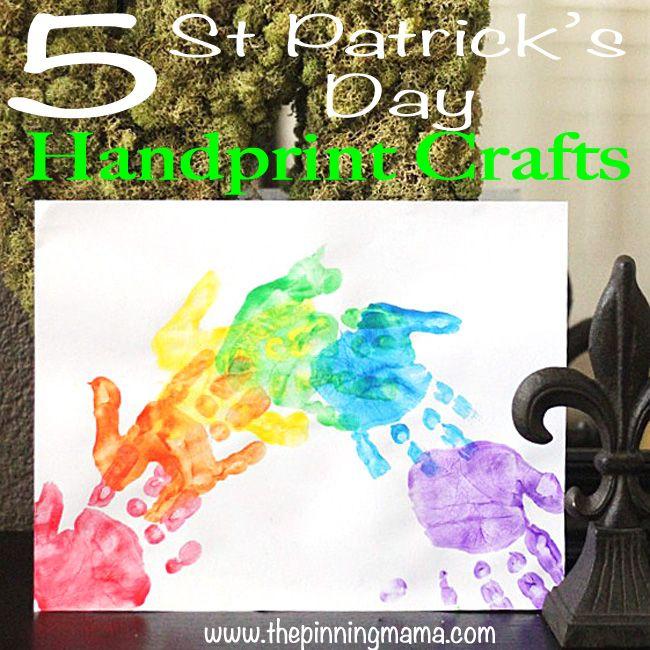 Saint Patricks Day Handprint Crafts2web web