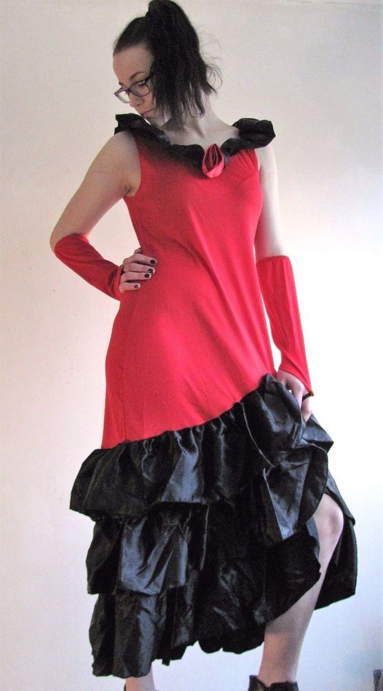 (16) Damen Kostüm Tango Flamenco Tänzerin Spanierin S 36 / 38 Karneval Fasching