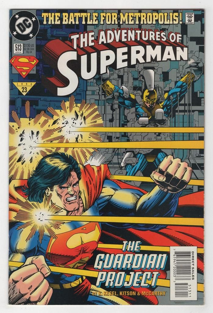 The Adventures of Superman No.513 Karl Kesel /& Barry Kitson 1994 Guardian