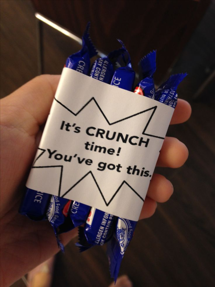 It's Crunch Time, finals week treat: