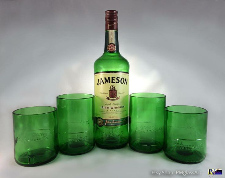 117 best images about upcycled glassware on pinterest for Alcohol bottles made into glasses