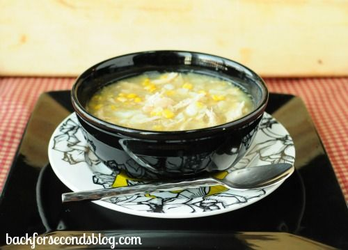 Skinny Crock Pot Chicken and Veggie Chowder - Back for Seconds