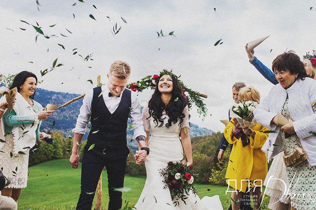 свадьба в стиле бохо во французских Альпах