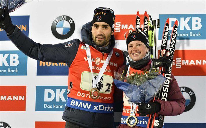 Martin Fourcade et Marie Dorin-Habert Relais mixte #biathlon Les deux meilleurs