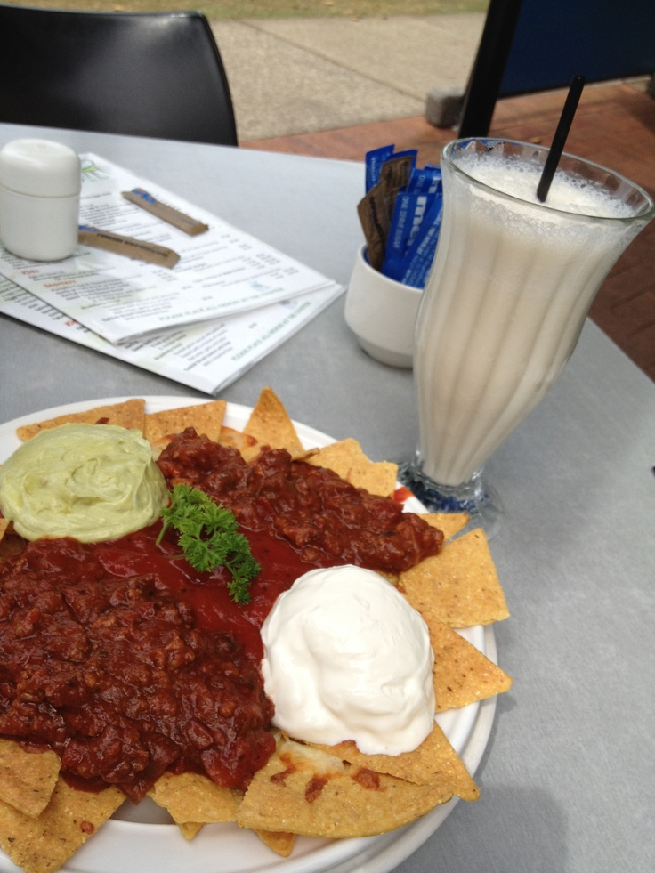 The best nachos ever! Enjoyed at Cafe Arabica, Cleveland, QLD. $12.95AUD