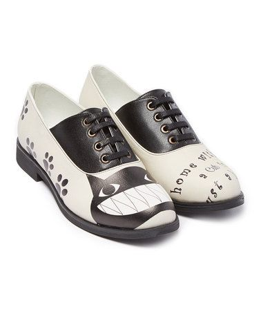 Another great find on #zulily! Black & White Cat Saddle Oxford #zulilyfinds