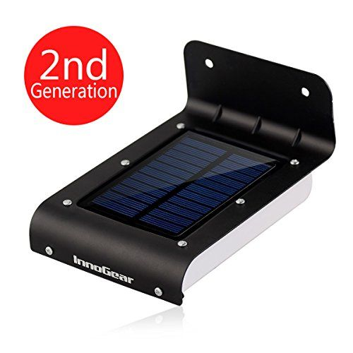 innogear 16 led super bight waterproof solar powered motion sensor outdoor garden patio path wall