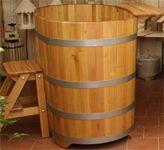 Baignoires en Bois d acacia extérieur ou intérieur avec poêle à bois en inox. Spa en bois chauffant, bain nordique