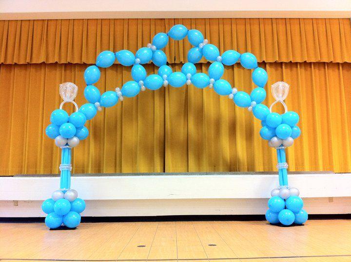 Stage or Entrance Princess Tiara Shape Balloon Arch Wedding Bridal