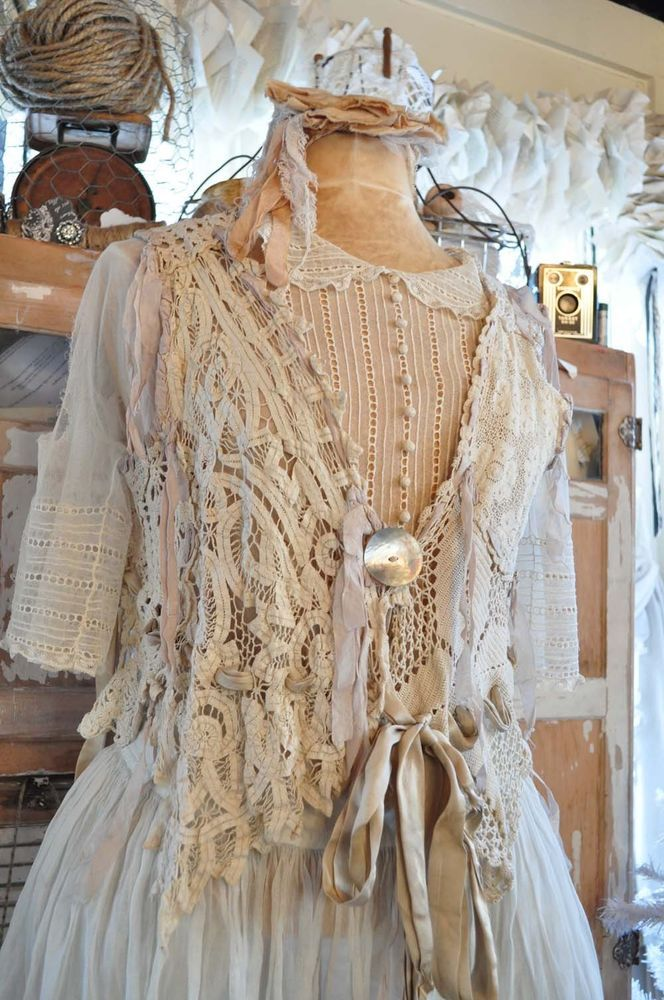 Sale - Magnolia Pearl Crochet Vest Top Vintage EGGSHELL