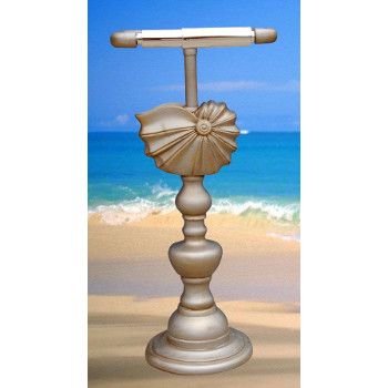 """<p> This <span style=""""font-weight: bold;"""">Nautilus Shell Toilet Paper Holder</span> will be the wow feature of your beach home bathroom. Select a quality finish to customize this bathroom accent piece to fit perfectly in you beach themed bathroom. A qualitybeach themed bathroom accessory for your coastal home.<br /> <br /> Finish shown in pictur..."""