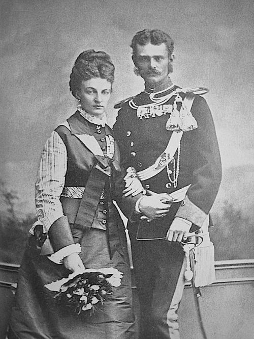 Max Emmmanuel brother of Empress Sissi with his wife Amelie